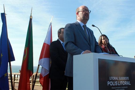 João Matos Fernandes anunciou o prolongamento da Sociedade Polis por mais um ano assente na mitigação dos efeitos das alterações climáticas |Foto: Helga Nobre|