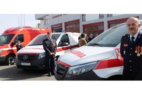 Bombeiros de Sines investem em três novasambulâncias