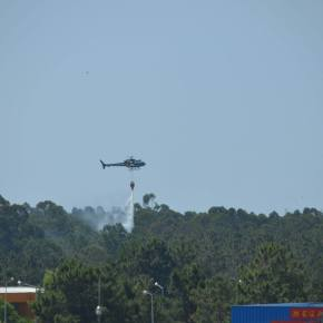 Bombeiros combateram incêndio em SantoAndré