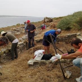 Limpeza das ruínas romanas da Ilha do Pessegueiro assegurada porvoluntários
