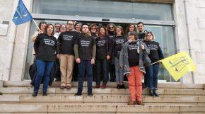 Greve dos funcionários judiciais paralisou Tribunal de Santiago doCacém
