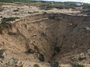 Cratera descoberta na Cova do Gato emSines