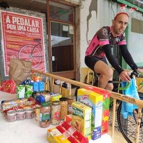 Ciclista Paulo Patrício pedalou durante 9 horas e recolheu mais de 500 bensalimentares