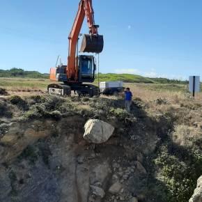 Autoridades fizeram derrocada controlada de arriba em praia de PortoCovo
