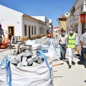 Presidente da Câmara de Santiago do Cacém visita obras noconcelho