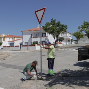 Remodelação de sinalização em bairros de Alcácer doSal