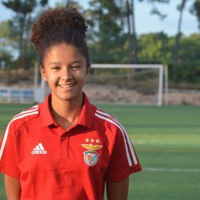 Com apenas 15 anos Matilde Fortes representa o Sport Lisboa eBenfica