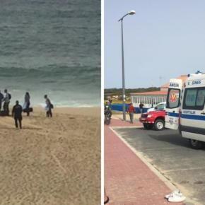 Jovens salvam mulher na Praia da Costa do Norte emSines