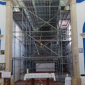 Obras na Igreja Matriz de SantoAndré