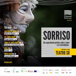 Litoral EmCena: Teatro Só apresenta 'Sorriso', com novasdatas
