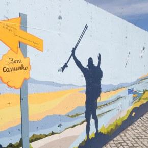 Mural dedicado aos Caminhos de Santiago saúdacaminhantes